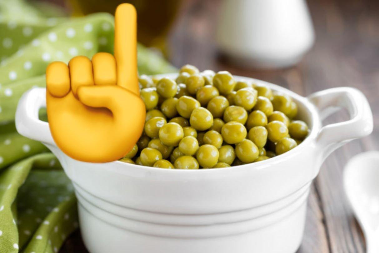 Зеленый горошек для вегана
