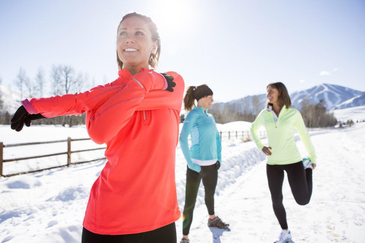 тренировка зимой на улице