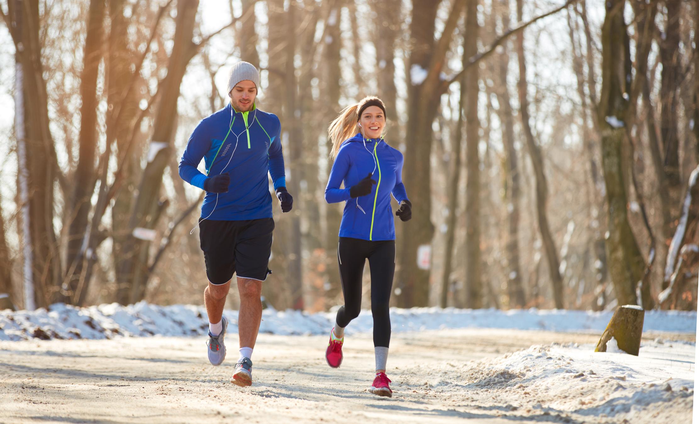 упражнения на улице зимой