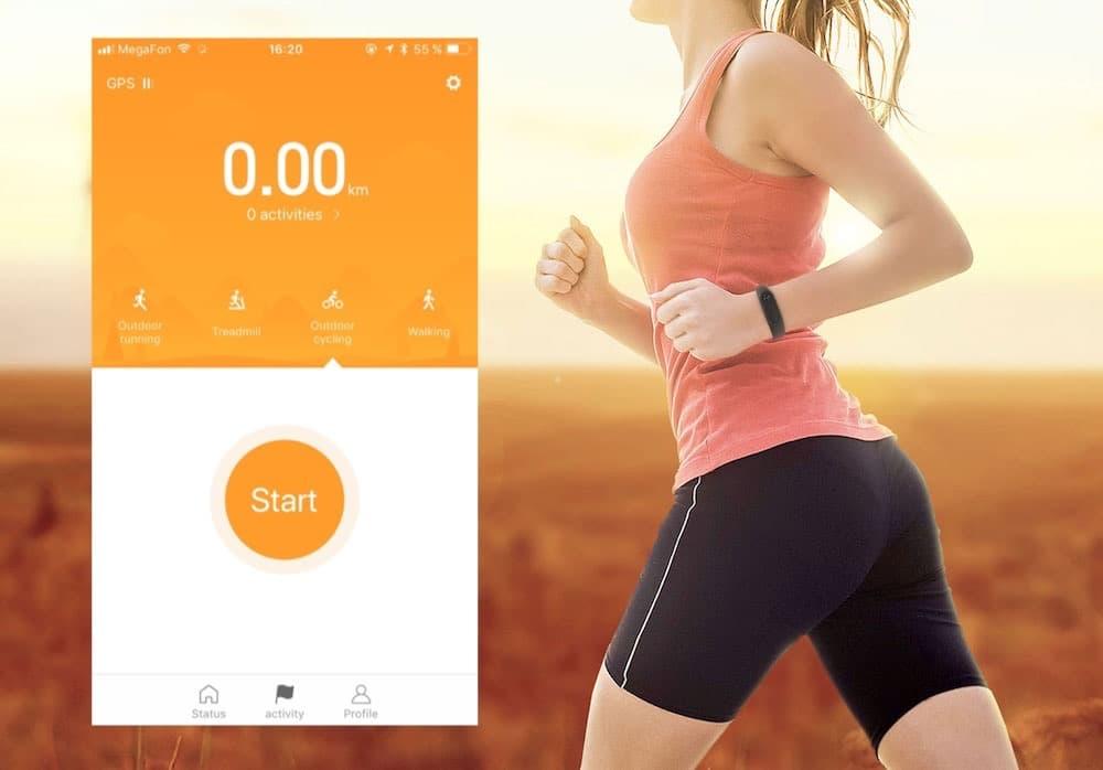 Фитнес браслет с GPS