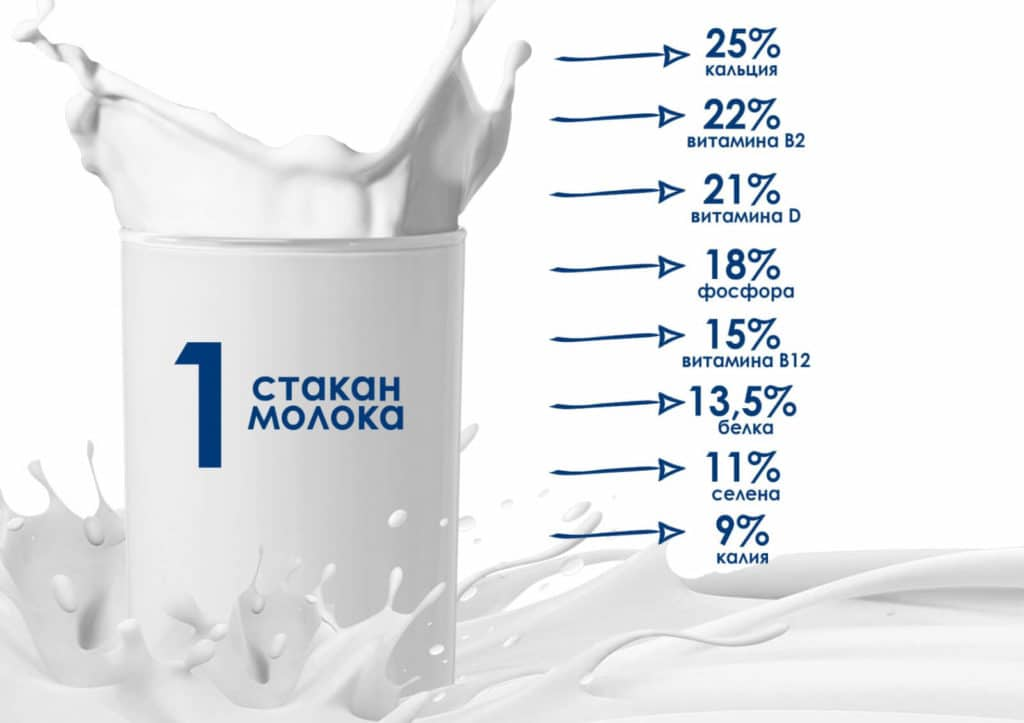 состав молока коровьего